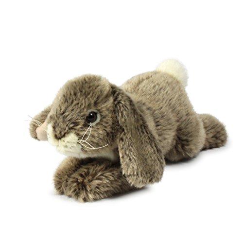 Anna Club Plüsch ACP16839 - Plüschfigur Kaninchen, Liegend 18 cm, grau, Plüschtiere