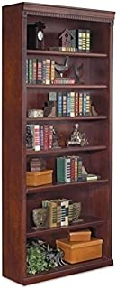 Bowery Hill 7 Shelf Bookcase in Vibrant Cherry