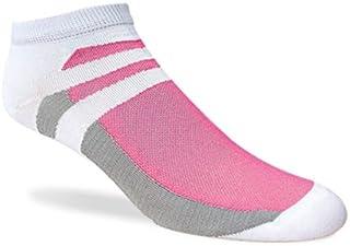 Jox Sox Womens Supra Lite Low Cut Pink/White Socks