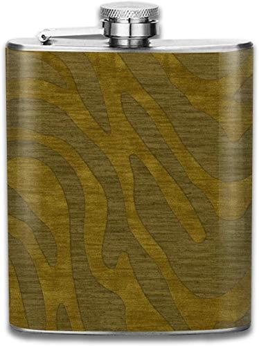 Avocado Gold Textur Muster Mode Tragbare 304 Edelstahl Auslaufsicher Whisky Schnaps Wein 7 UNZE Topf Flachmann Reise Camping Flagon für Mann Frau Glaskolben Großes Kleines Geschenk