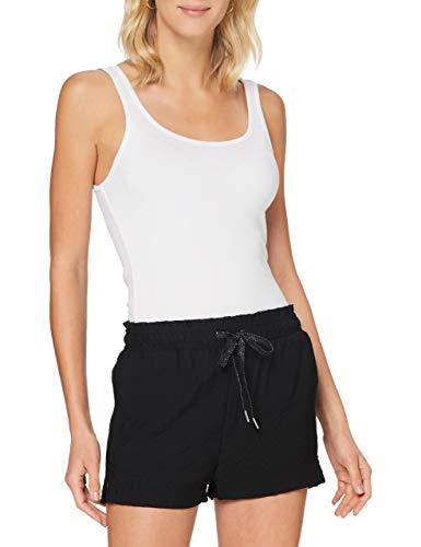 Pimkie PTS20 PSUMMERSHORT Pantalones Cortos de Vestir, Negro, XS para Mujer