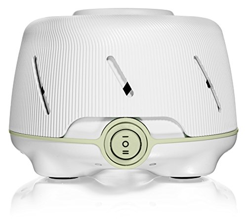 Yogasleep Dohm (White/Green)  The Original White Noise Machine   Soothing Natural Sound from a Real Fan   Noise Cancelling   Sleep Therapy, Office Privacy, Travel   For Adults & Baby   101 Night Trial