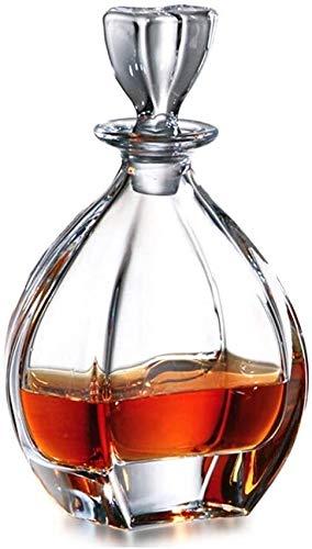 Botella de Whisky Con Vaso Decantador De Vino Moda De Alta Gama Free CRISTAL CRISTAL CRISTAL DE CRISTAL DE FASTERA FASTERA CREATIVA Botella De Vino Whisky Vino Tinto Decantador De Vino Separador De Bo