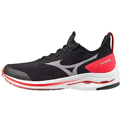 Mizuno Wave Rider Neo (W), Zapatillas de Running Mujer, Black/White/Ignition Red, 40 EU