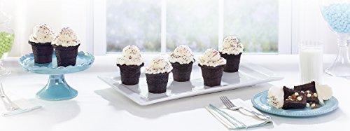 Baker's Advantage 5176873 Fillables 2-Piece Non-Stick Cake Cone Pan, Set of 1, Gray