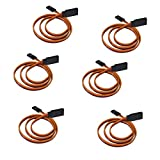Servo Extension Cable, 6PCS Anti-Interference Male to Female 3 Pin Lead Wire Connectors, 22AWG 60 Cores Wire Futaba JR for DJI Phantom 4 3 2 DJI Inspire 2 1 and Other Remote Control Aircraft