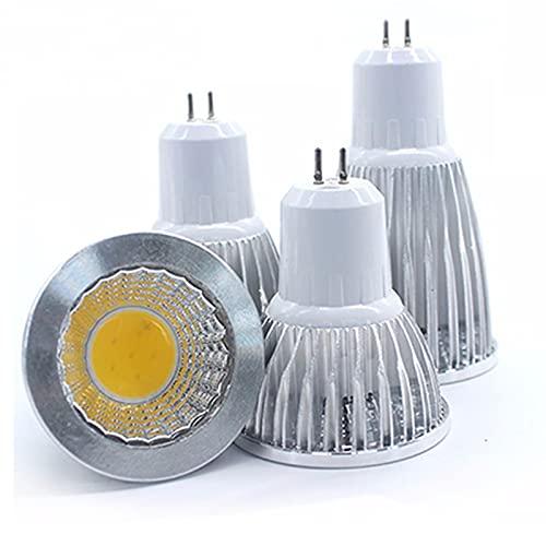 GHC LED Bombillas Bombilla LED E27 E14 GU10 MR16 12V LED COB Spotlight Dimmable 9W 12W 15W Spot Bombilla Lámpara de Alta Potencia DC 12V o 85-265V (Color : Warm White, Color emisivo : GU53)