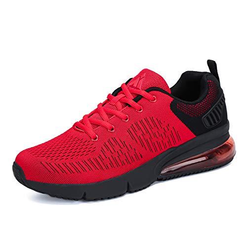Laufschuhe Rot Mit Dämpfung Damen Turnschuhe Leicht Sportschuhe Atmungsaktiv Running Outdoor Sneakers für Frauen gr.37