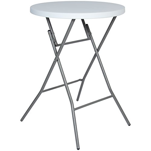 Best Choice Products 32in Round Bar Height Folding Table