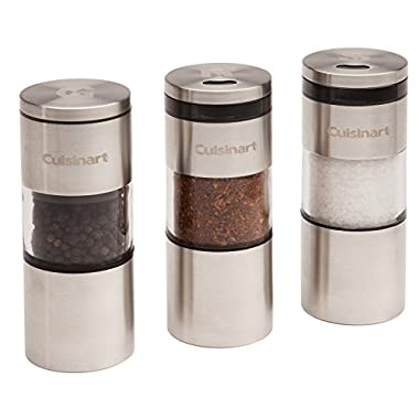 Cuisinart CSS-33 Magnetic Grilling Spice Set, Silver