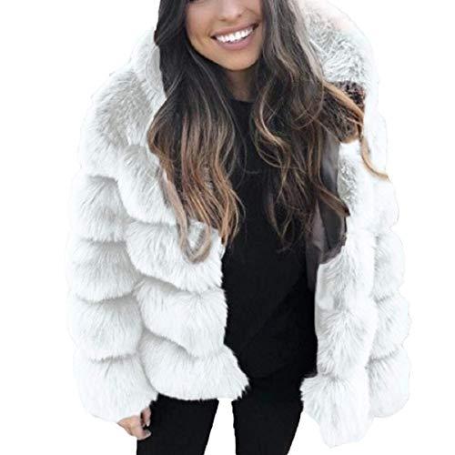 Saoye Fashion Chaqueta de invierno para mujer Black Friday Specials Faux Mink Ropa de Fiesta Chaqueta de piel sintética con capucha de invierno Chaqueta con capucha de empalme Sudadera con cap