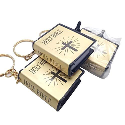 Mini Heilige Bibel Buch Schlüsselanhänger Schlüsselanhänger Mini Bibel Buch hängen Schlüsselanhänger Schlüsselanhänger Katholisches Zubehör