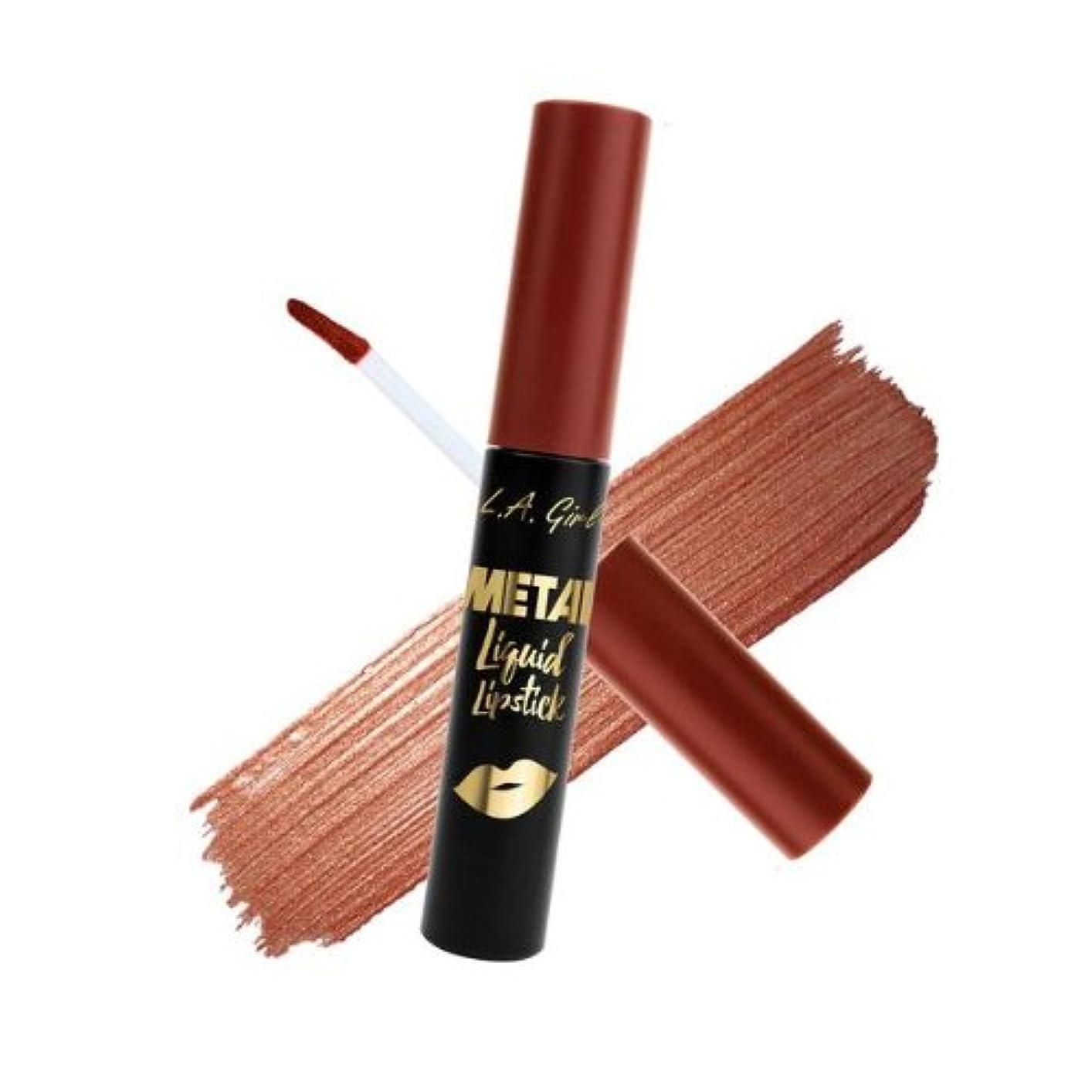 疎外する精査する位置するL.A. GIRL Metal Liquid Lipstick - Opulent (並行輸入品)