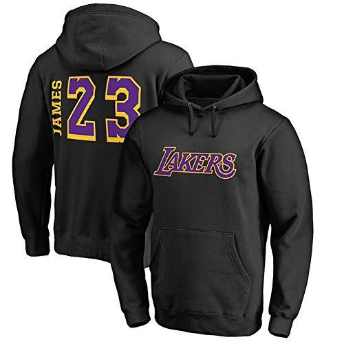 Lakers # 23 James - Traje de entrenamiento de baloncesto con capucha, sudadera con capucha para baloncesto, chaqueta deportiva (S-XXXL), el mejor regalo, Calle, Hombre, color Negro (, tamaño XXL