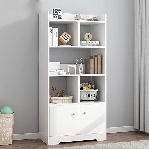 Estantería Organizador moderno del estante de exhibición del estante de librería del estante de libros con 2 puertas de la coctelera for el dormitorio, estanterías rústicas de Etagere Adecuado Para Al