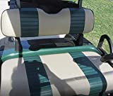 E-Z-GO TXT 2 Stripe Staple On Golf Cart Seat Cover (Front Seat / Rear Seat) Combo