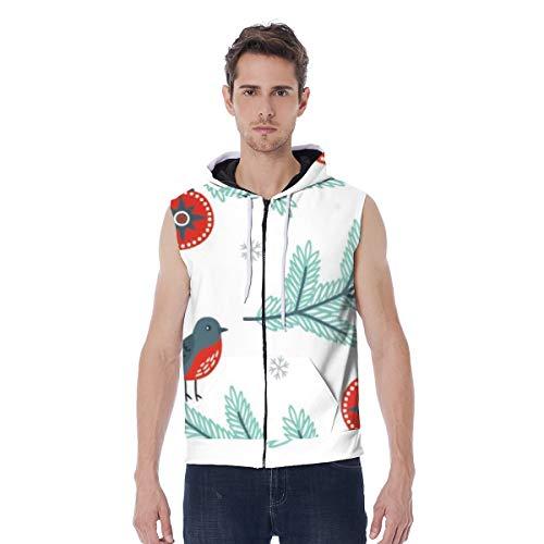 T-ara tendencia líder Sudadera con capucha for hombres chaquetas unisex chaleco con cremallera Vain Jackanapes Sudadera con cordón Sudadera Pájaros y téberos Super comodo