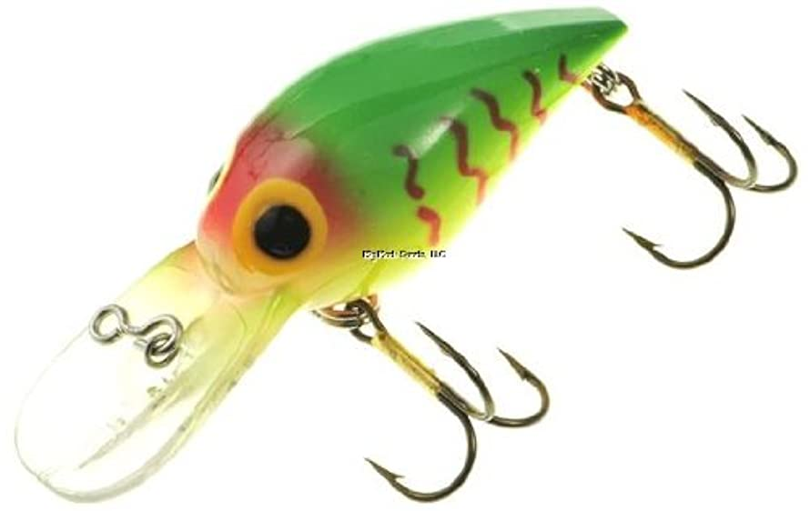 BS Fish BW-105 Brads Wiggler (Green/Chart/Orange with Strips)