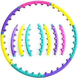 フラフープ 磁気 マッサージ 有酸素運動 くびれ お腹周り 柔らかい 分離収納 持ち運び便利 組み立て式 ダイエット 分離収納 直径約88cm 7本組