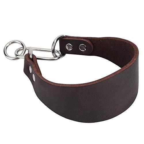 DISHUECO Durable portátil ensanchar collar para perro pequeño galgo Whippet con fijación de remache