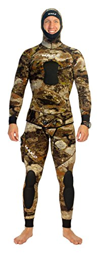 MAKO Spearguns Spearfishing Wetsuit 3D Yamamoto Reef Camo 5mm 2 Piece