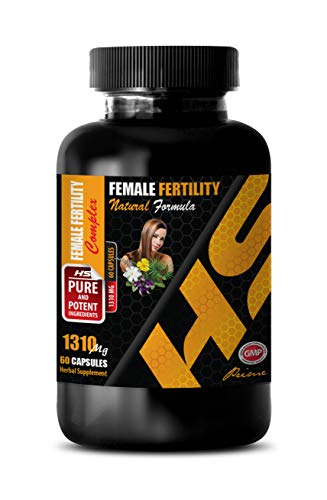 Fertility Supplements for Women Best Seller - Female Fertility Complex - Natural Formula 1310 MG - eleuthero Root Capsules - 1 Bottle 60 Capsules