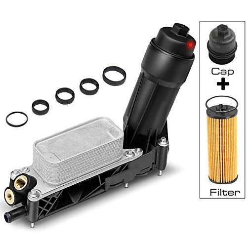 A-Premium Engine Oil Cooler Filter Adapter Replacement for 200 300 Avenger Charger Challenger Durango Ram 1500 Grand Cherokee 2011-2013