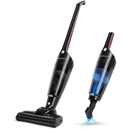Aigostar Wand 33LNO - Cordless 2 in 1 Stick Handheld Vacuum Cleaner, Rechargeable Lithium Battery with Charging Base, HEPA Filtration and Cyclonic System, 2 Speeds.