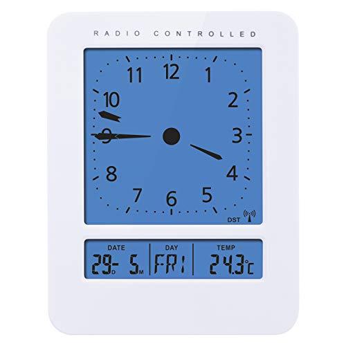 Emos E9270 Digitale radiogestuurde wekker met 2 wektijden/thermometer, kalender, datumweergave en dagweergave, sluimerfunctie