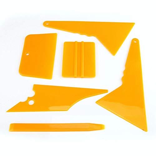 Ensemble d'outils d'installation auto - Delaman 6 en 1 Voiture Véhicule Outil pour Vitrage Tinting Film Raclette Film Auto, Raclettes Grattoirs