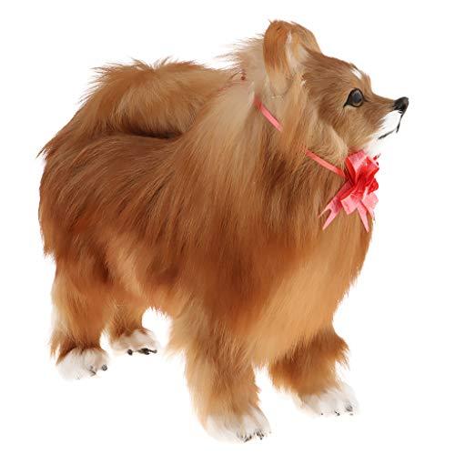 Lindo Peluche Figura de Acción de Pomerania Ornamento Animal de Peluche