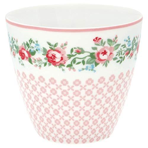 GreenGate - Tasse, Becher, Kaffeetasse, Latte Cup - Gabby - Porzellan - weiß - 300 ml