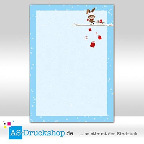 Designpapier Weihnachten - Weihnachtshase / 100 Blatt/DIN A5 / 90 g-Offsetpapier