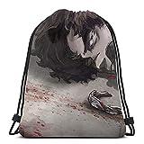Vbanlya Anime MEGALO BOX Mochila con cordón, bolsa de gimnasio, playa, fiesta, bolsa de regalo, bolsa de viaje, bolsa ligera y de gran capacidad