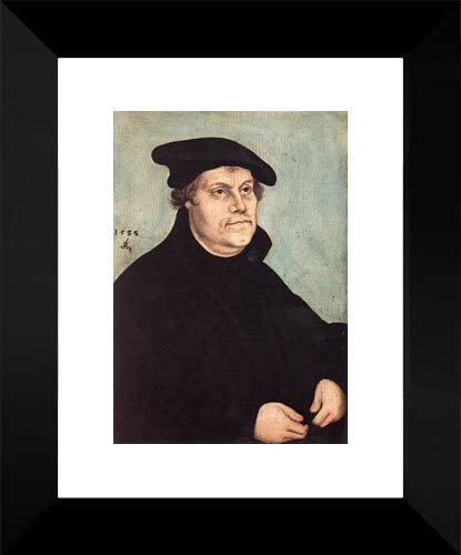 Portrait Choice of Martin Luther 15x18 Framed Cranach by Seattle Mall Art Print the