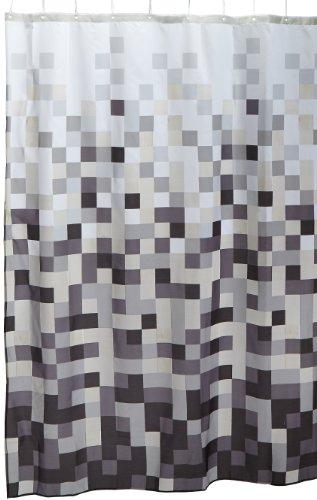 Sealskin Pixel Douchegordijn, Zwart, 180 x 200 Cm, 1.0 Unit