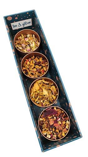 Tee-Geschenkbox Früchte Probierbox / 4 verschiedene lose Früchtetees zu je 50 g | als Geschenkset