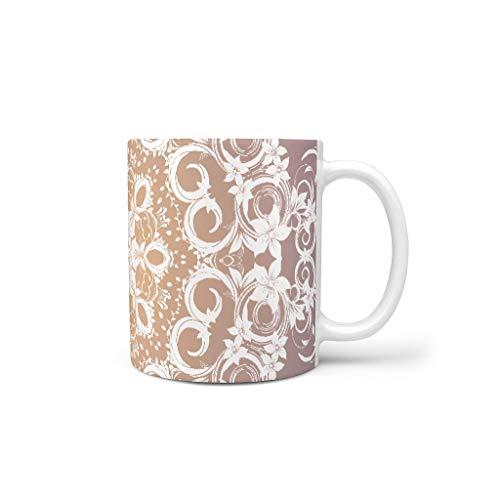 O5KFD&8 11 Oz Mischen Cappuccino Becher Tassen mit Griff Keramik Funny Becher - Herren Gegenwart, Anzug für Wohnheim verwenden White 330ml