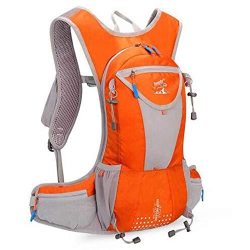 Outdoor-Sportler Männer und Frauen Langlauf-Rucksack-Tasche Wasserkochtasche 15 Liter Rucksacksack Hintertaschen Reisetasche,orange