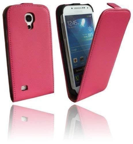 ENERGMiX Handytasche Flip Style kompatibel mit Samsung Galaxy S4 Mini (i9190 / i9195) in Pink Klapptasche Hülle