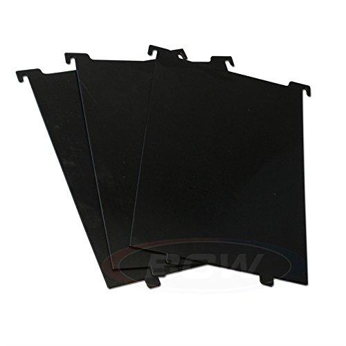 BCW Corto cómic Papelera particiones-Negro