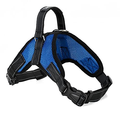 Arnés para perros Dog Supplies Pet Dogs Harness Collars Vest Dog Harness pet products Arnés para gatos (Color : Mesh Blue, Size : Large)