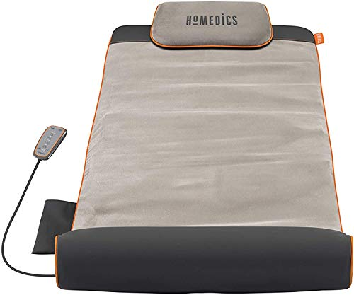 HoMedics Dehnbar – Elektrische aufblasbare Yogamatte mit verstellbaren Rückenkörperübungen, Lendenwirbelsäule, Schulter, Hüftstütze, faltbares Design für einfache Lagerung