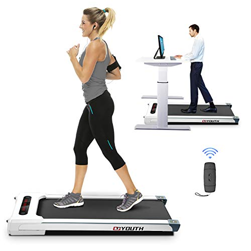 Goyouth 2 in 1 Under Desk Electric Treadmill Motorized Exercise Machine with Wireless...
