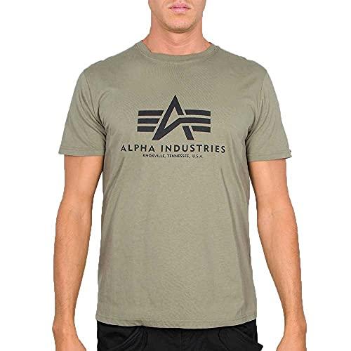 Alpha Industries ALPHA INDUSTRIES Herren Basic T-Shirt, Oliv, 4XL