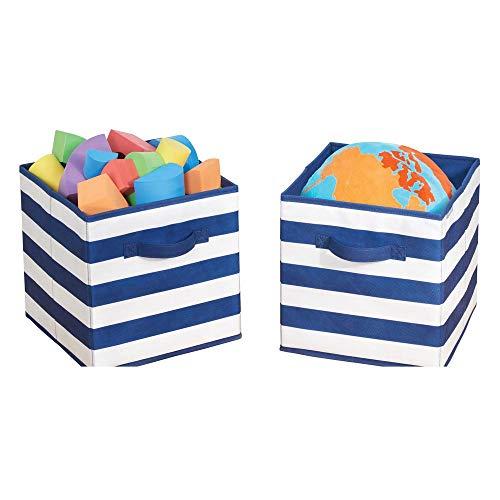 mDesign Juego de 2 cajas organizadoras para guardar juguetes