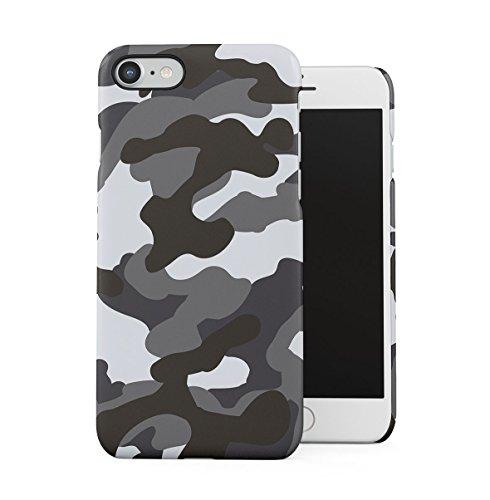 Grau Snow Camouflage Camo Dünne Handy Schutzhülle Hardcase Aus Hartplastik Hülle Kompatibel mit iPhone 7 / iPhone 8 Handyhülle Case Cover