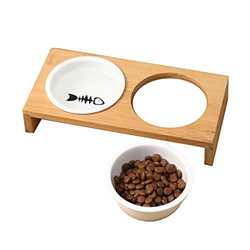 【 食べやすい 】iikuru 猫 食器 可愛い 猫用 餌入れ 水飲み 水入れ 皿 セラミック ねこ 水 えさ 入れ ボウル スタンド 子猫 食器台 セット y283