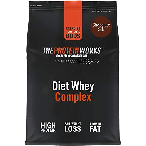 Diet Whey Complex para perder peso | Batido de proteína whey dietético | THE PROTEIN WORKS, Sabor Chocolate, 1 kg
