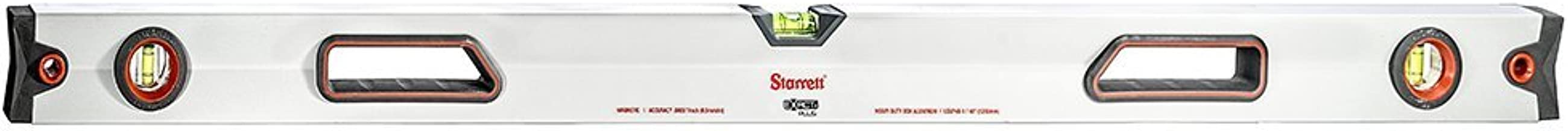 Starrett Exact Plus KLBXP48-1-N Aluminum Box Beam Magnetic Level with 3 Block Vials, 48